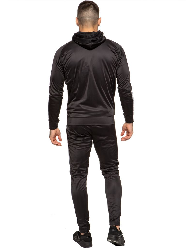 New-Enzo-Mens-Full-Tracksuit-Set-Slim-Fit-Zip-Up-Sweat-Hoodie-Jogging-Bottoms thumbnail 4
