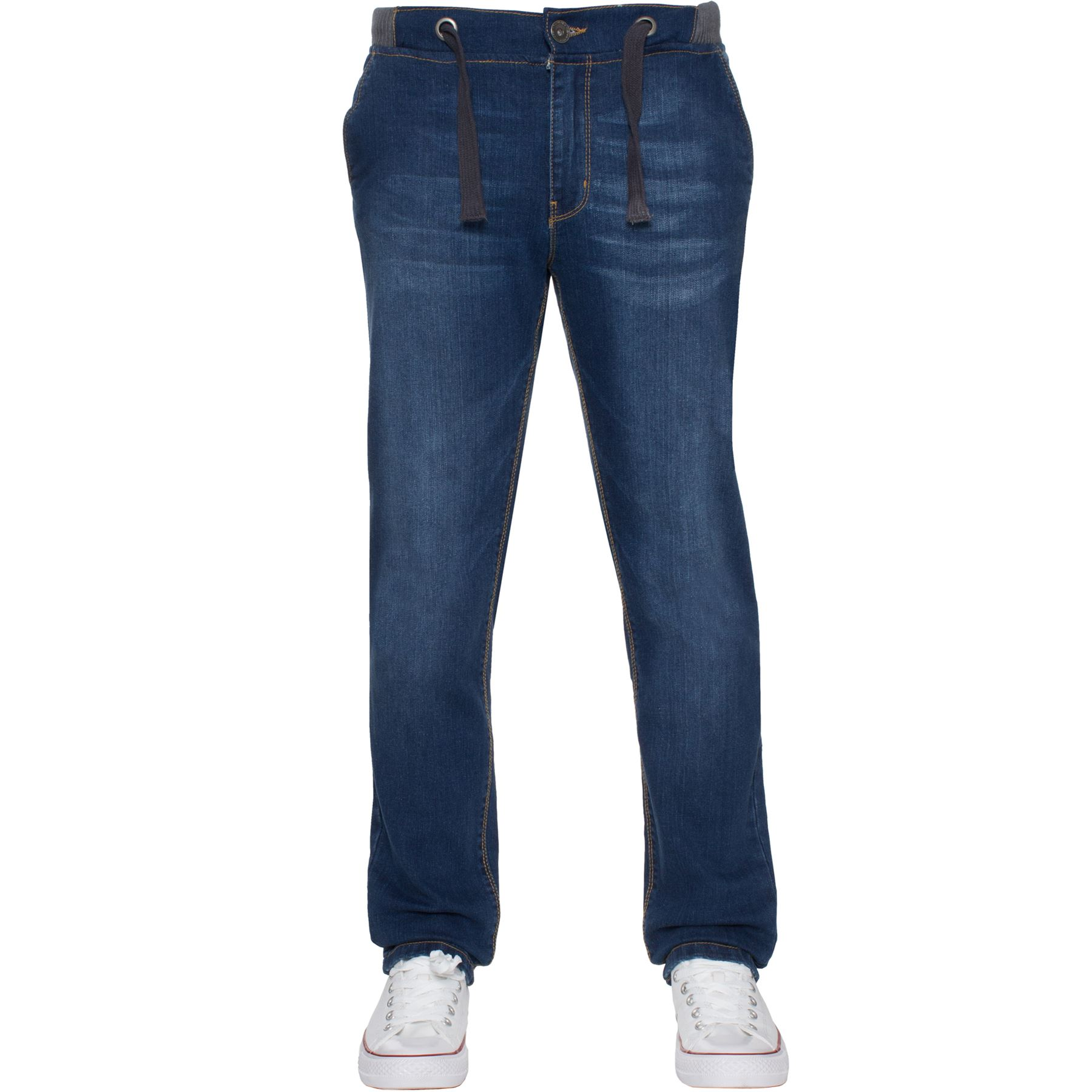 Jean-Garcon-Taille-Elastique-Enfants-Skinny-Stretch-School-Denim-Pantalon-Pantalon miniature 10