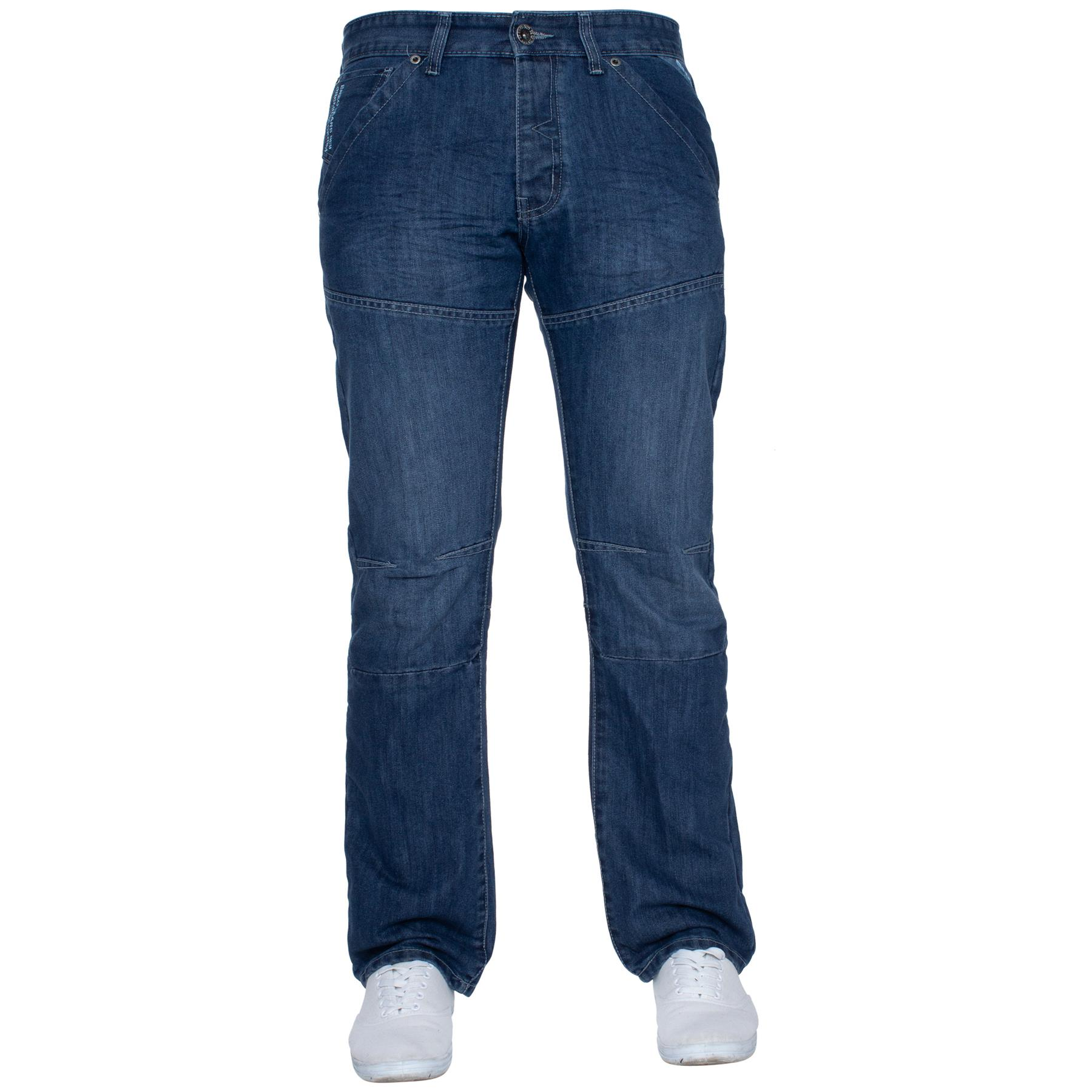 Enzo-Mens-Jeans-Big-Tall-Leg-King-Size-Denim-Pants-Chino-Trousers-Waist-44-034-60-034 miniature 100