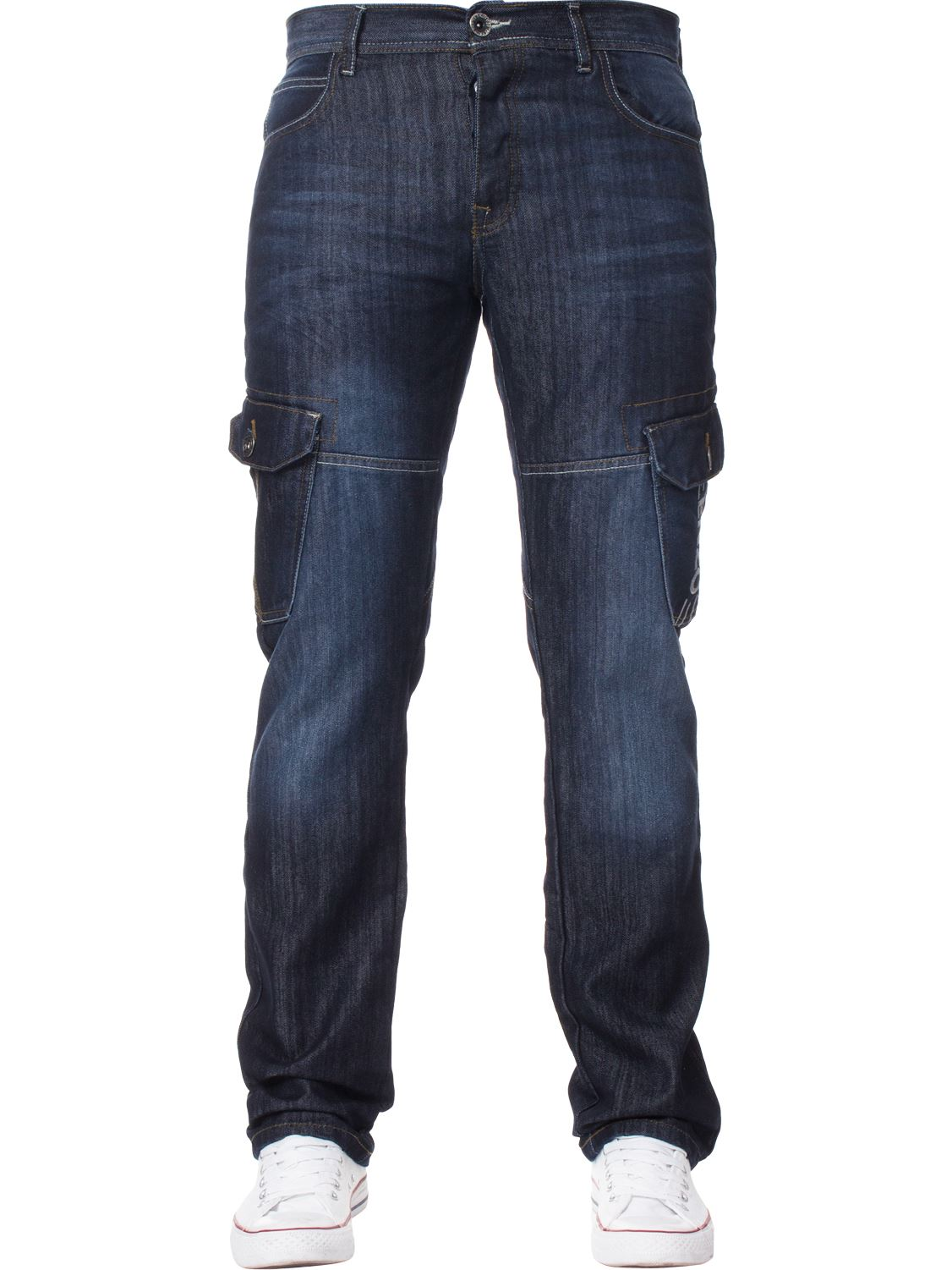 Enzo-Designer-Mens-Regular-Fit-Jeans-Straight-Leg-Denim-Trousers-Pants-All-Waist thumbnail 8