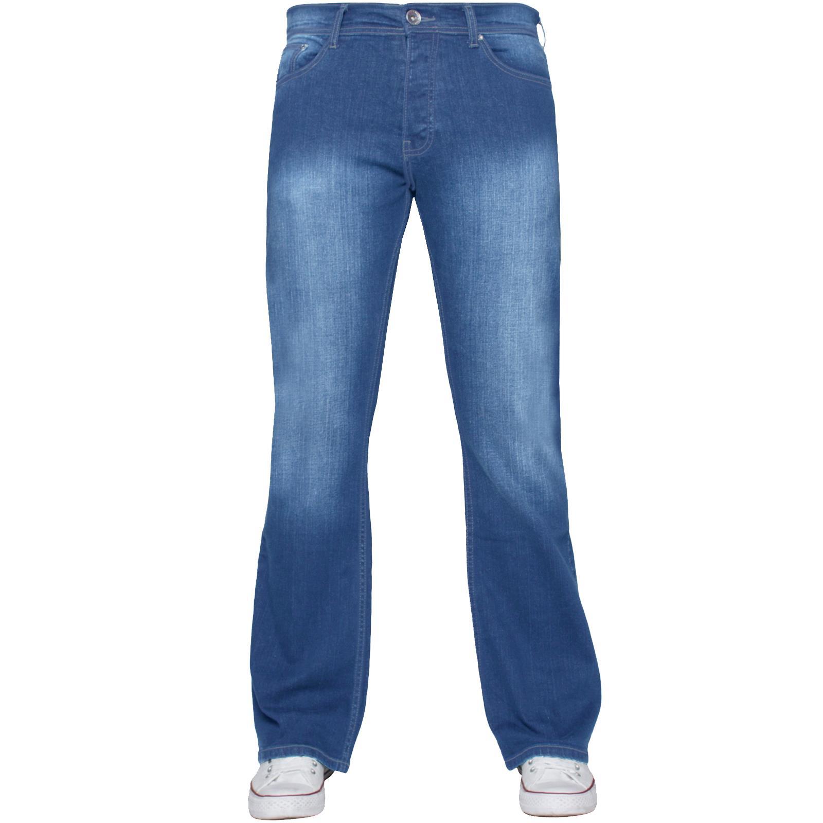 Para-Hombre-Recto-Bootcut-Stretch-Jeans-Pantalones-Regular-Fit-Grande-Alto-Todas-Cinturas miniatura 44