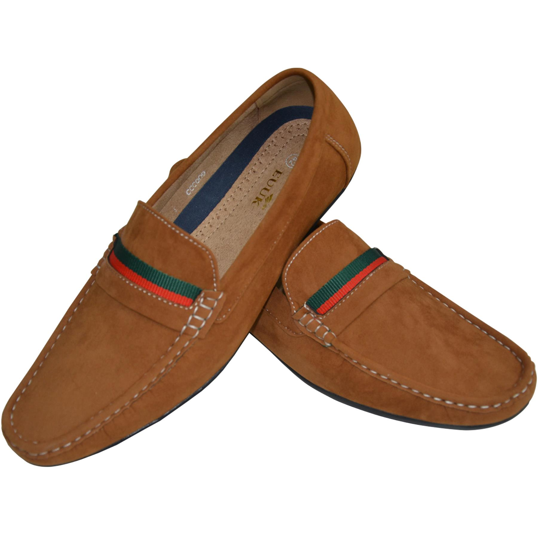 Mens-Suede-Loafers-Shoes-Moccasin-Slip-On-Casual-Boat-Driving-UK-Sizes-6-12 thumbnail 28
