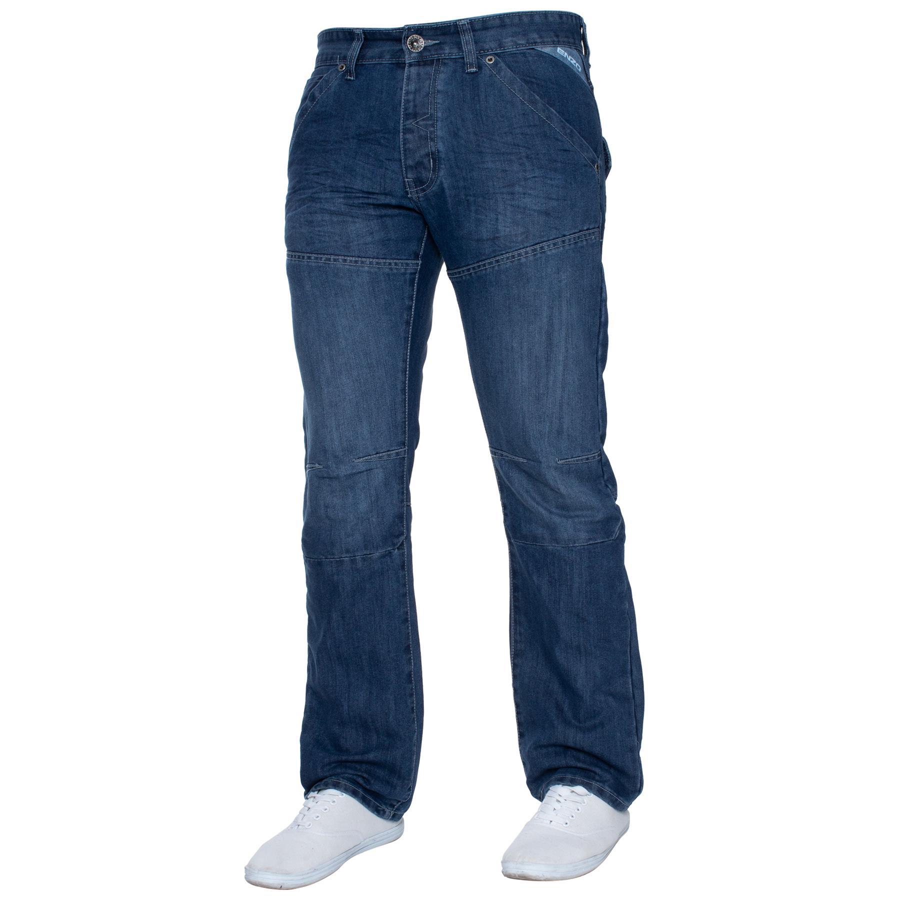 ENZO-Jeans-para-hombre-Big-Alto-Pierna-King-Size-Jeans-Pantalones-Chino-Pantalones-Pantalones-44-034 miniatura 61