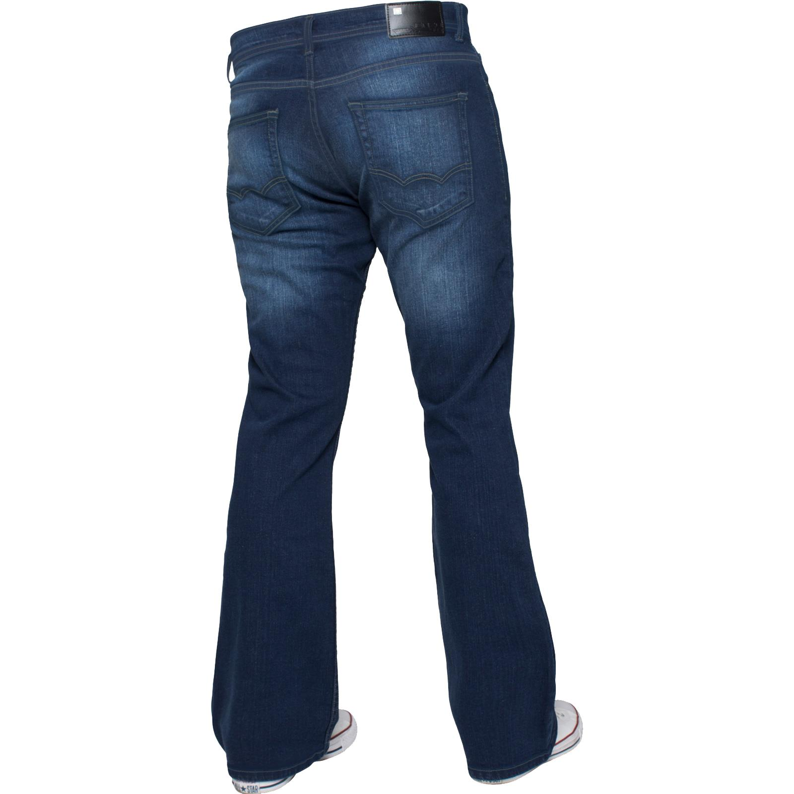 Enzo-Mens-Jeans-Big-Tall-Leg-King-Size-Denim-Pants-Chino-Trousers-Waist-44-034-60-034 miniature 61