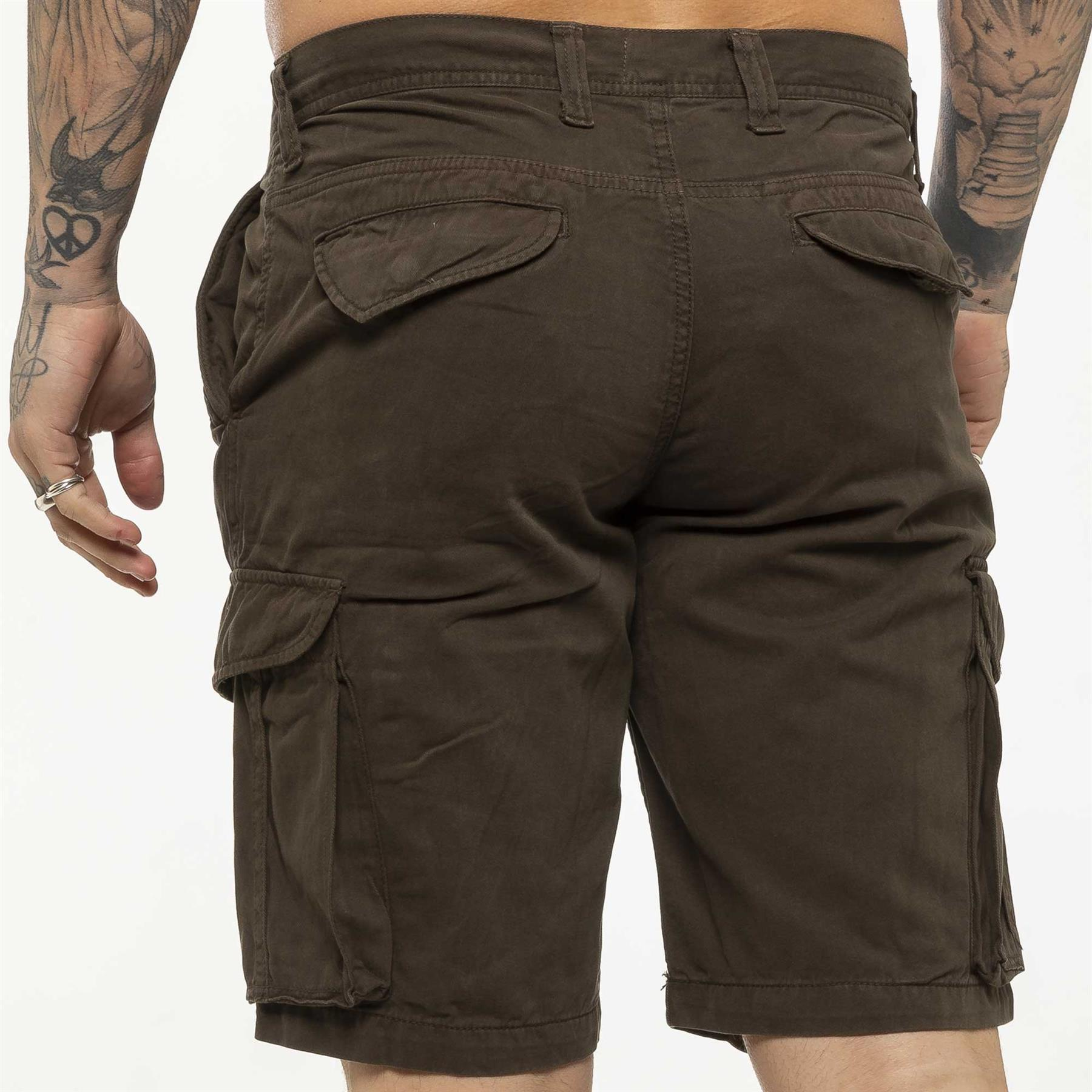 thumbnail 47 - Kruze Jeans Mens Army Combat Shorts Camouflage Cargo Casual Camo Work Half Pants