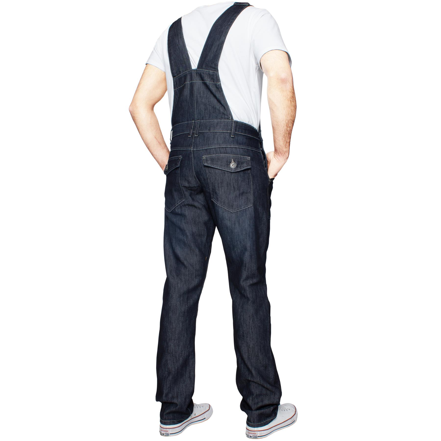 ENZO-Jeans-Hombre-Denim-Azul-Peto-Peto-overoles-Todas-Cinturas-Talla-30-034-50-034 miniatura 19
