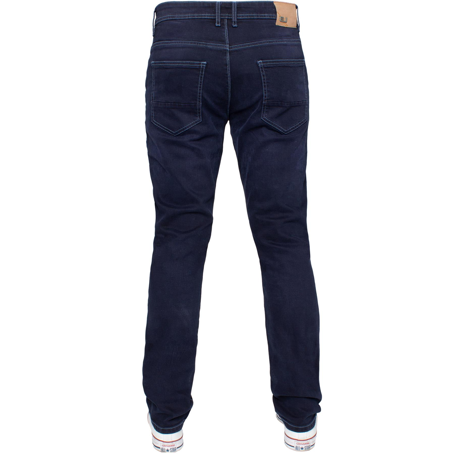 Eto-Designer-Mens-Tapered-Jeans-Slim-Fit-Stretch-Denim-Trouser-Pants-All-Waists thumbnail 24