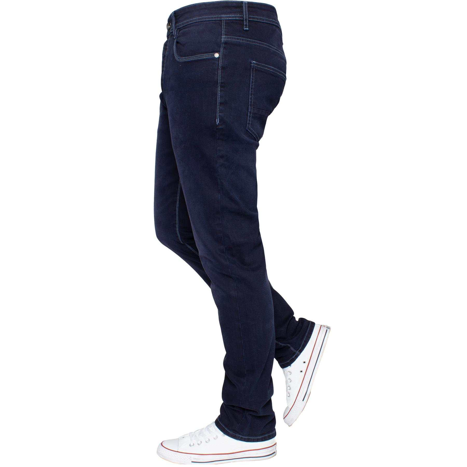 Eto-Designer-Mens-Tapered-Jeans-Slim-Fit-Stretch-Denim-Trouser-Pants-All-Waists thumbnail 22