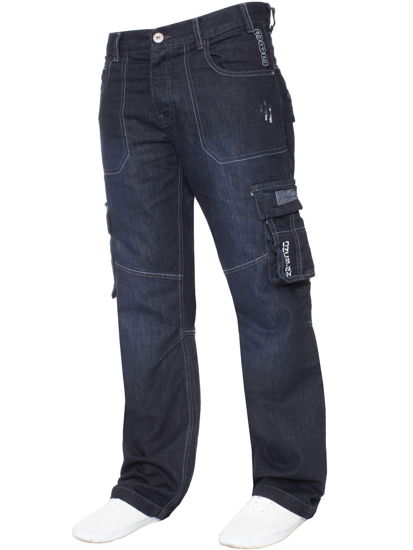 Jeans-Para-Hombre-de-carga-de-combate-pesado-Pantalones-de-trabajo-pantalones-de-mezclilla-Big-King miniatura 21