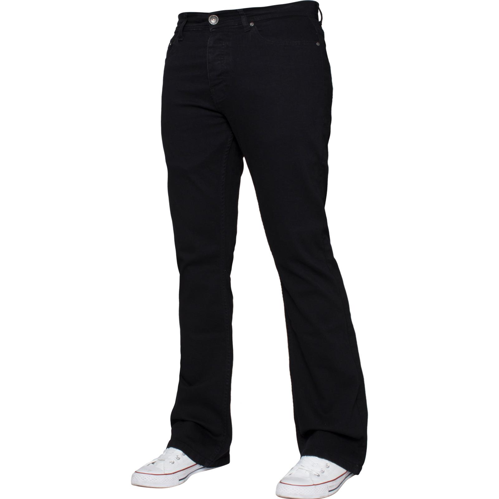 Para-Hombre-Pierna-Recta-Bootcut-Stretch-Denim-Regulares-Pantalon-de-trabajo-Kruze-Todas-Cinturas miniatura 61