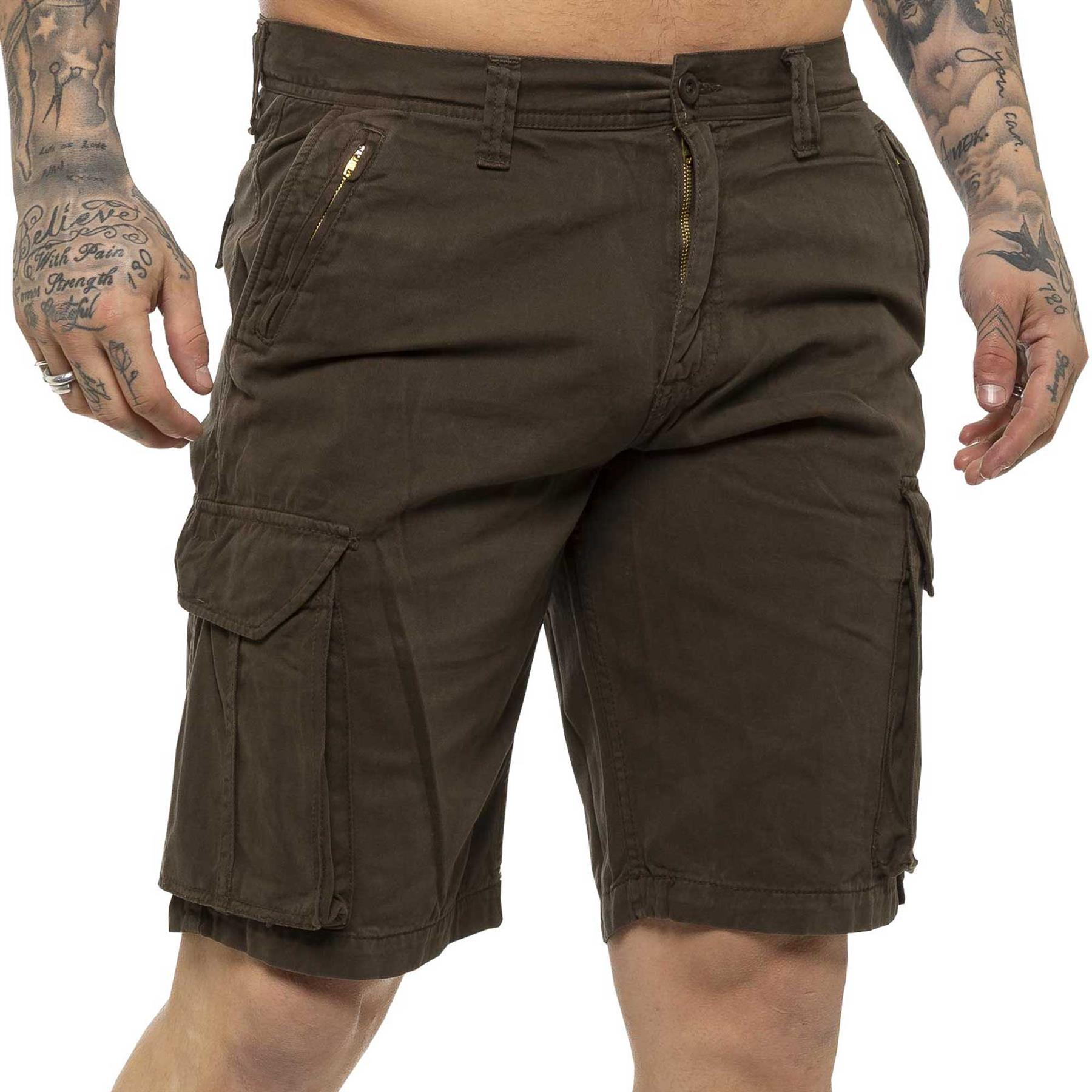 thumbnail 48 - Kruze Jeans Mens Army Combat Shorts Camouflage Cargo Casual Camo Work Half Pants