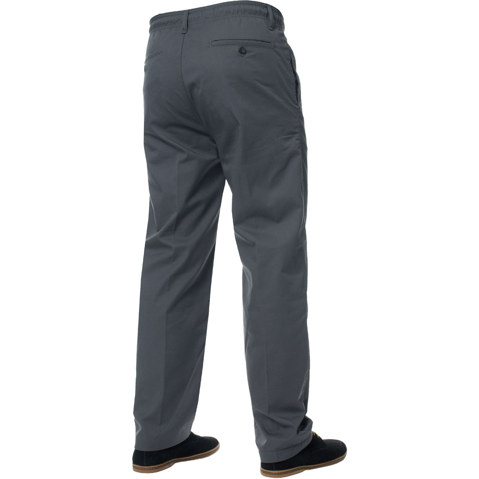Para-Hombres-Pantalones-De-Rugby-Kruze-cintura-elastica-con-cordon-pantalones-REGULAR-King-Tamanos miniatura 27