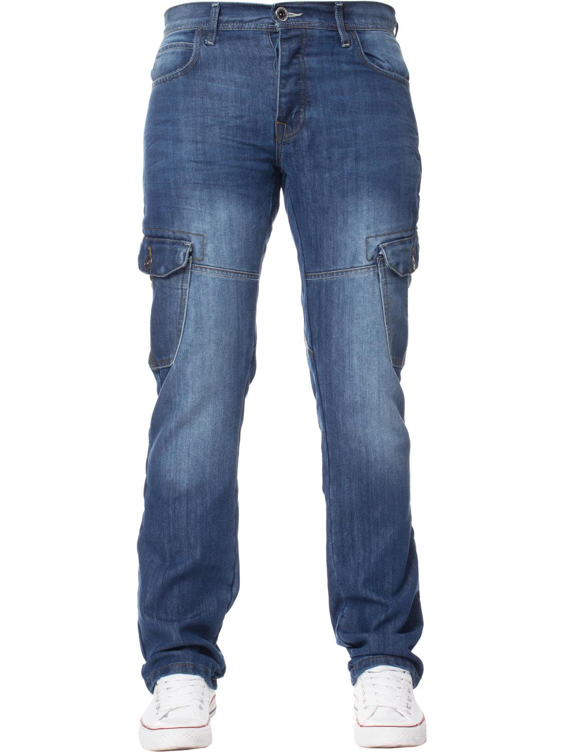 Enzo-Mens-Jeans-Big-Tall-Leg-King-Size-Denim-Pants-Chino-Trousers-Waist-44-034-60-034 miniature 85
