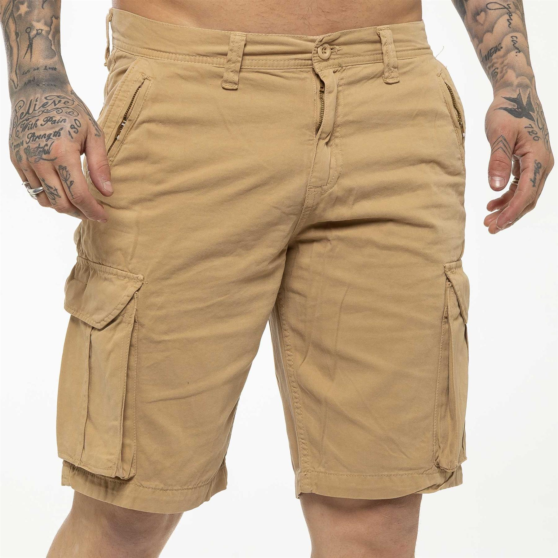 thumbnail 33 - Kruze Jeans Mens Army Combat Shorts Camouflage Cargo Casual Camo Work Half Pants