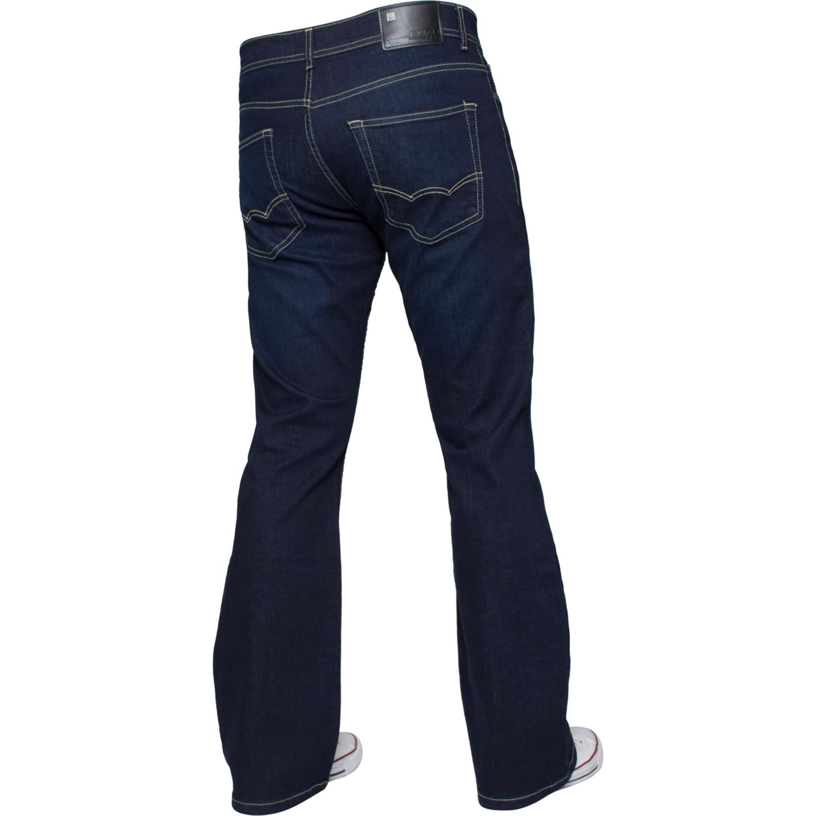 Mens-Straight-Bootcut-Jeans-Stretch-Denim-Pants-Regular-Fit-Big-Tall-All-Waists thumbnail 48