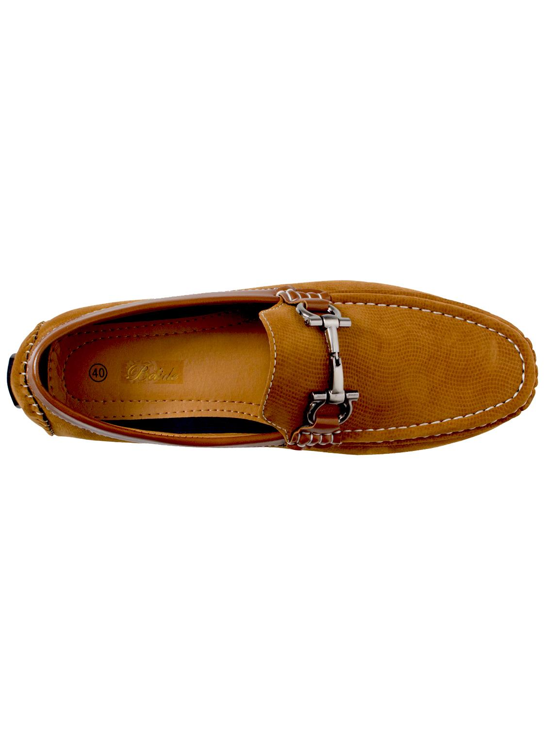 Mens-Slip-Ons-Shoes-Boat-Deck-Driving-Smart-Buckle-Moccasins-Suede-Look-Loafers thumbnail 85