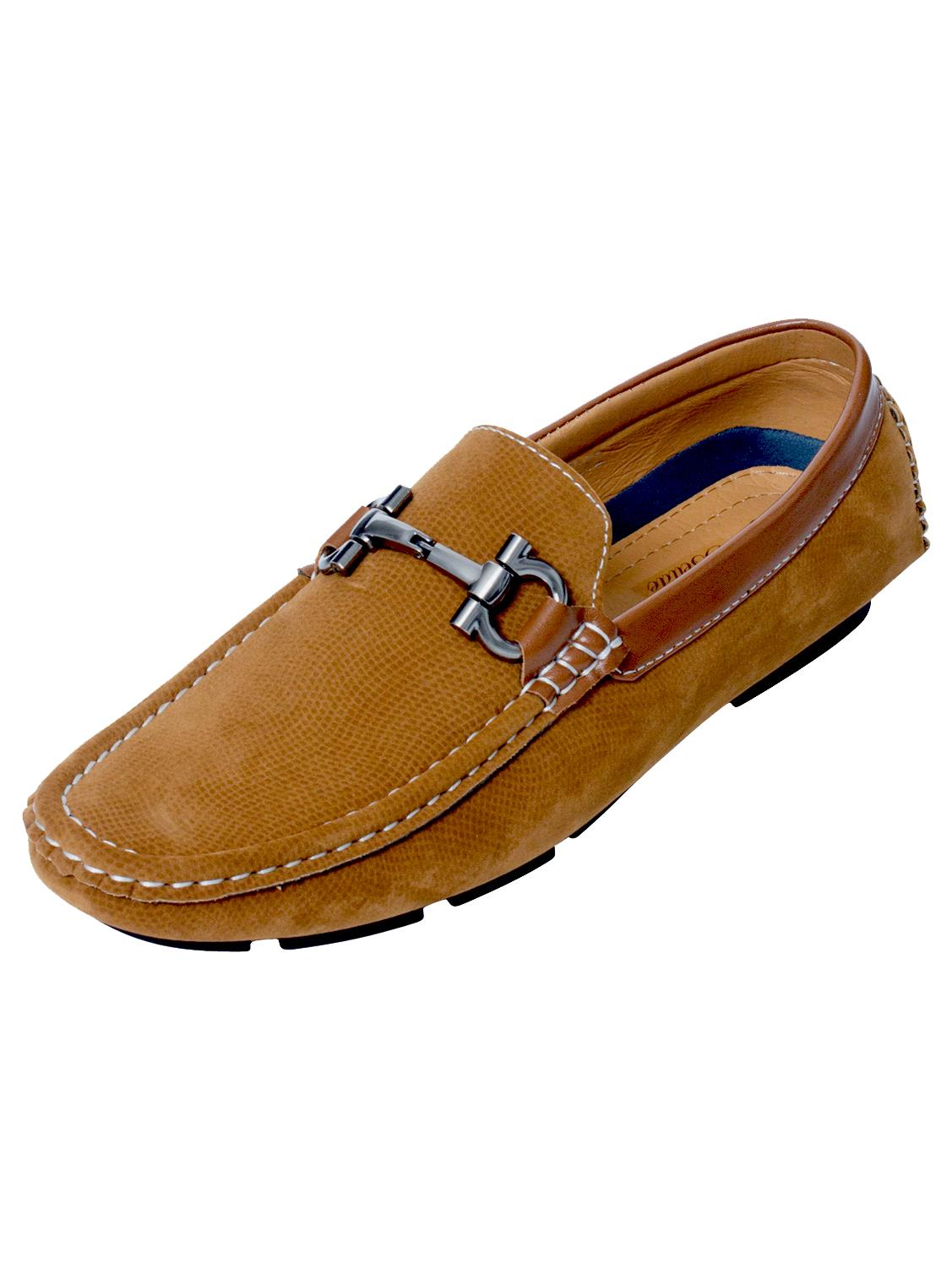 Mens-Slip-Ons-Shoes-Boat-Deck-Driving-Smart-Buckle-Moccasins-Suede-Look-Loafers thumbnail 84