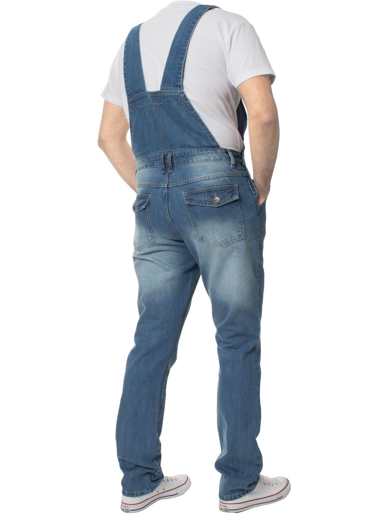 ENZO-Jeans-Hombre-Denim-Azul-Peto-Peto-overoles-Todas-Cinturas-Talla-30-034-50-034 miniatura 4