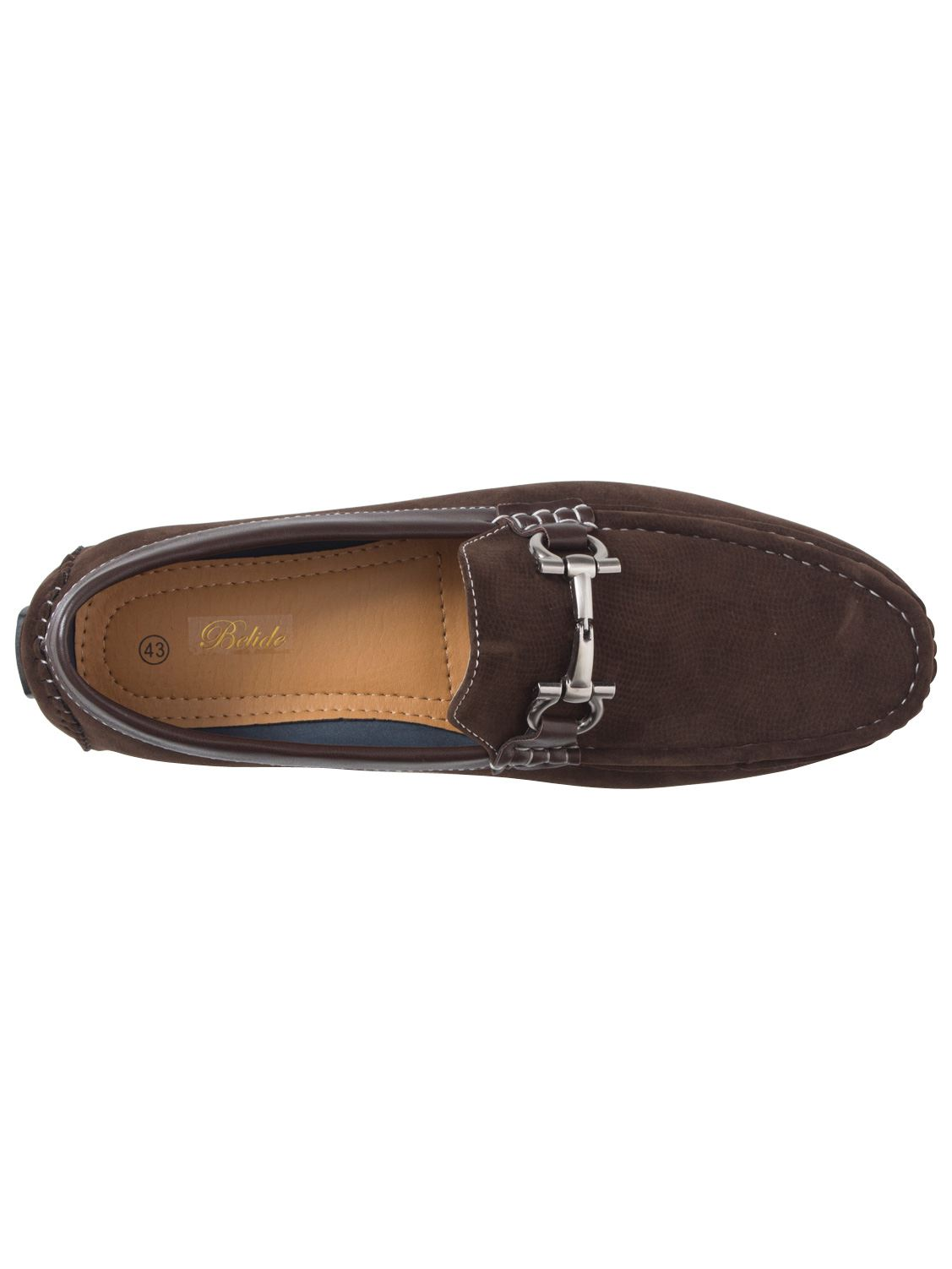 Mens-Slip-Ons-Shoes-Boat-Deck-Driving-Smart-Buckle-Moccasins-Suede-Look-Loafers thumbnail 79