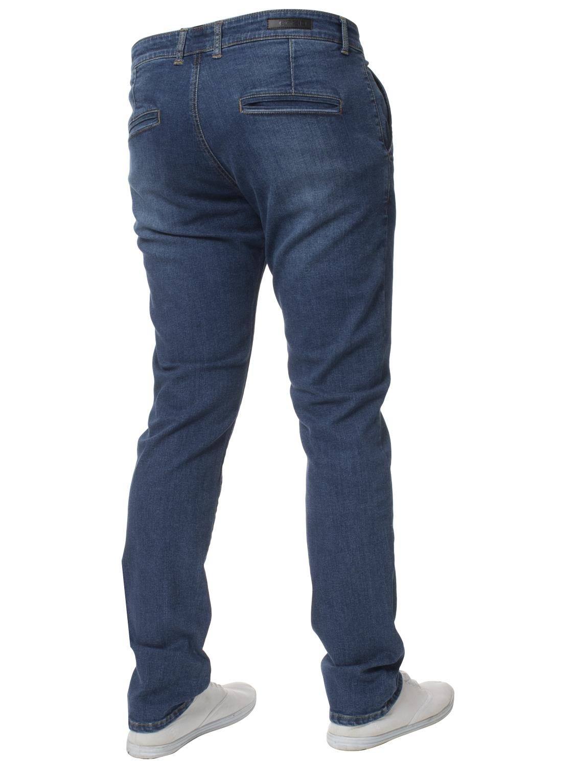 Enzo-Mens-Jeans-Big-Tall-Leg-King-Size-Denim-Pants-Chino-Trousers-Waist-44-034-60-034 miniature 29