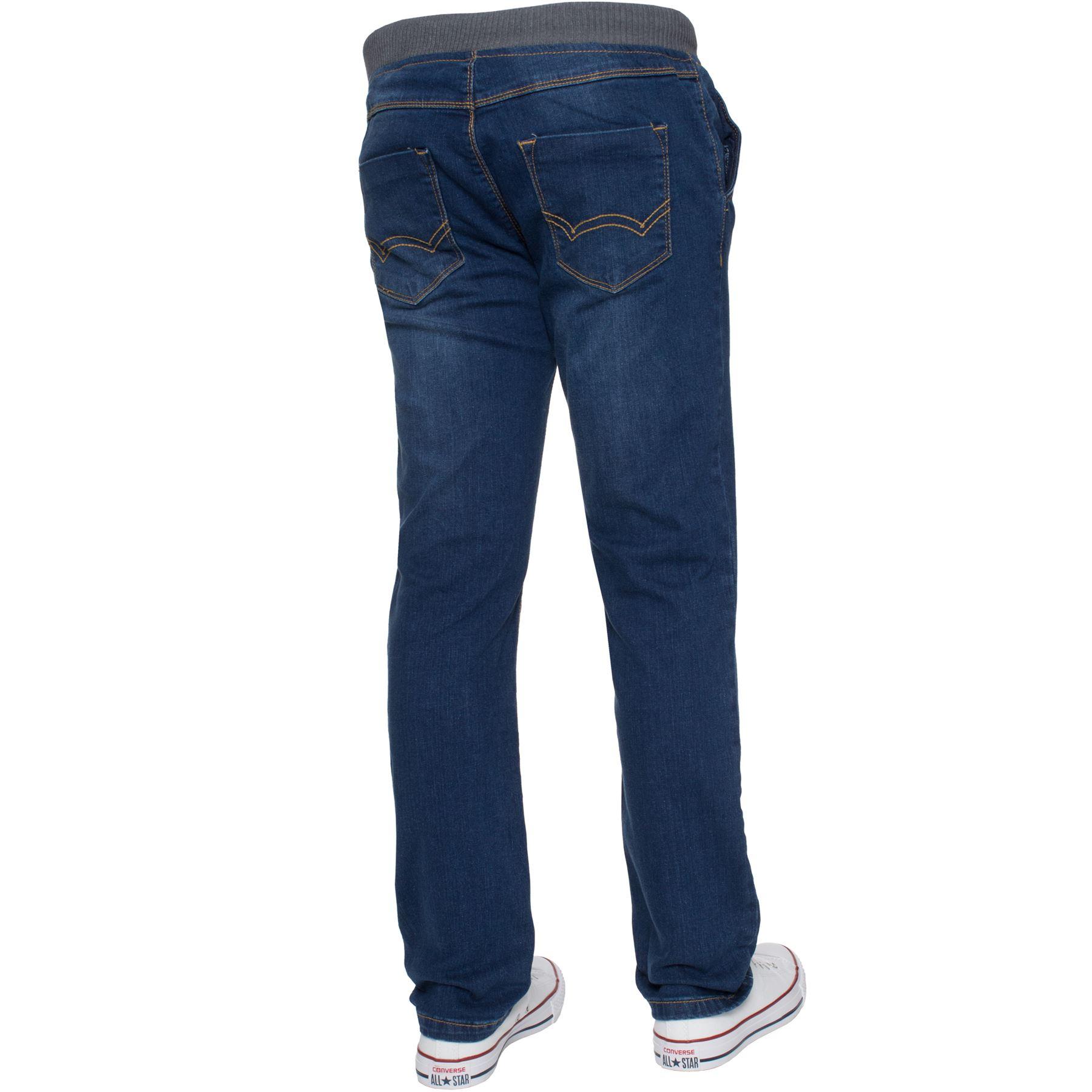 Jean-Garcon-Taille-Elastique-Enfants-Skinny-Stretch-School-Denim-Pantalon-Pantalon miniature 8