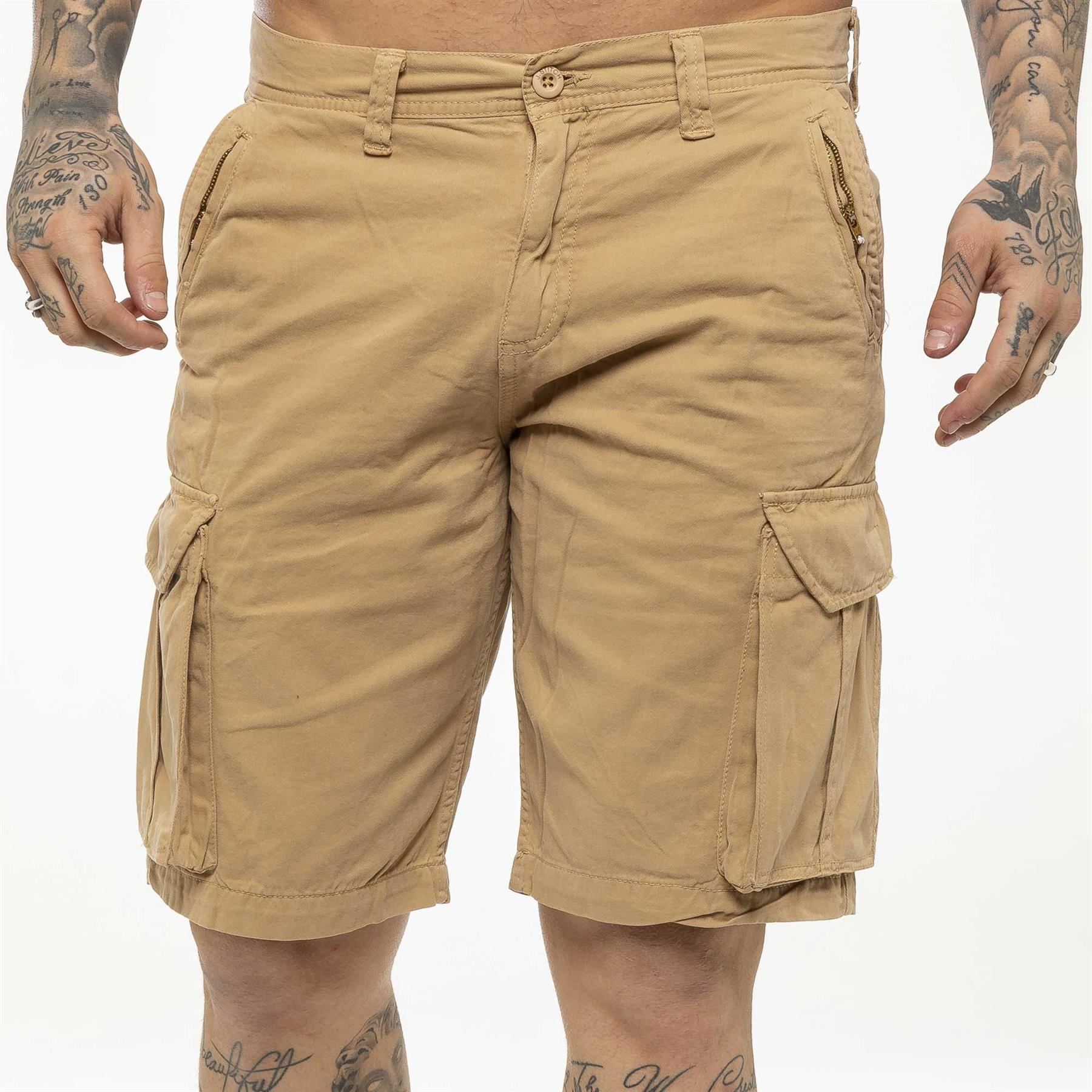 thumbnail 35 - Kruze Jeans Mens Army Combat Shorts Camouflage Cargo Casual Camo Work Half Pants