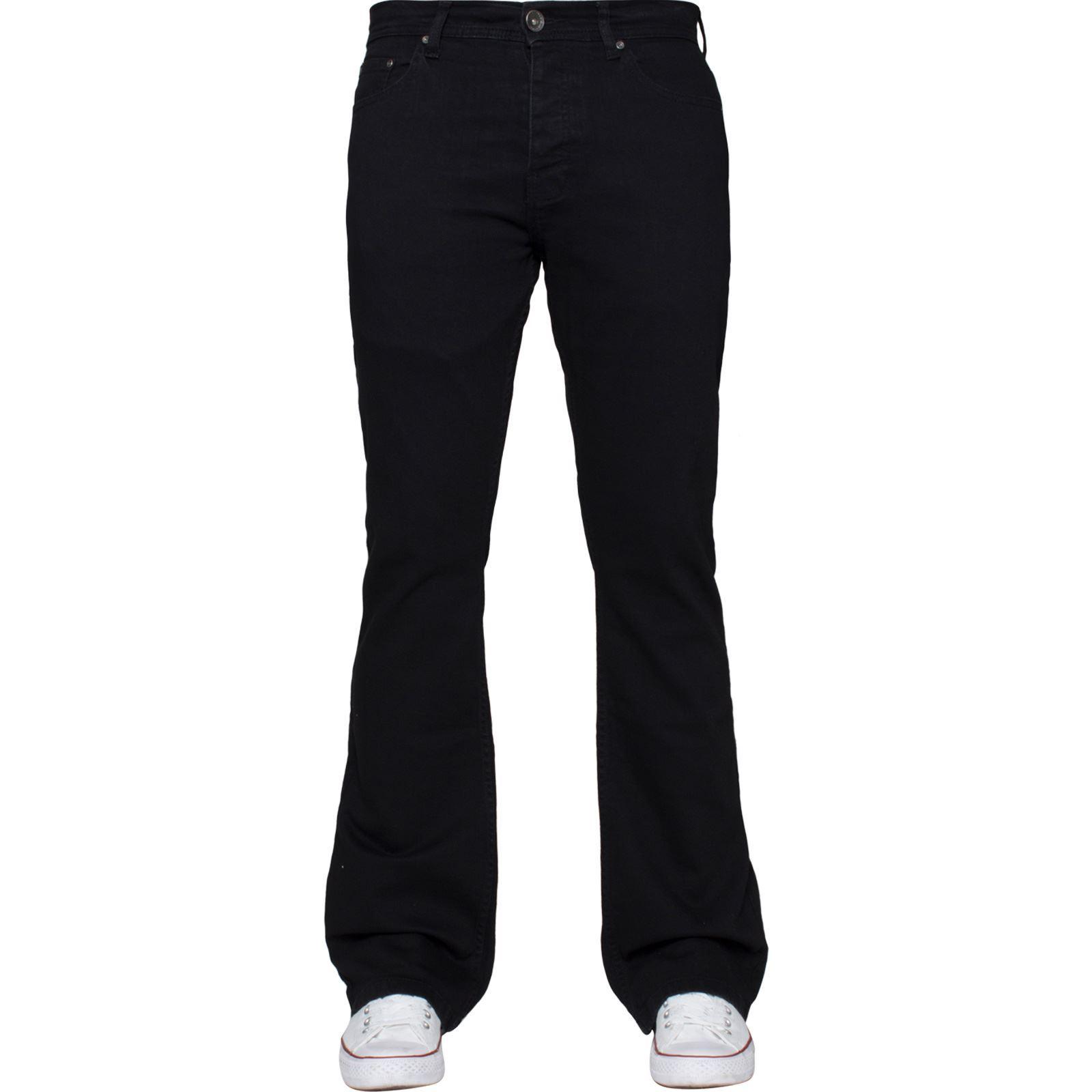Para-Hombre-Pierna-Recta-Bootcut-Stretch-Denim-Regulares-Pantalon-de-trabajo-Kruze-Todas-Cinturas miniatura 70