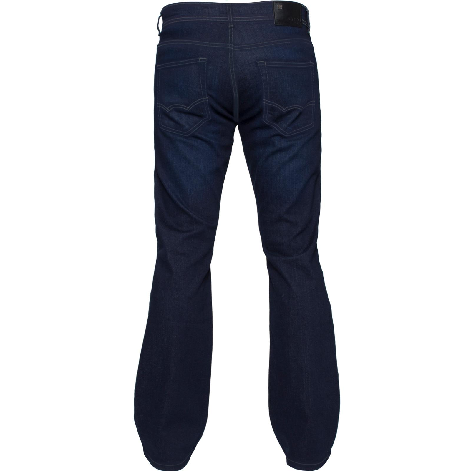 New-Enzo-Mens-Designer-Bootcut-Wide-Leg-Jeans-Flared-Stretch-Denim-All-Waists thumbnail 16