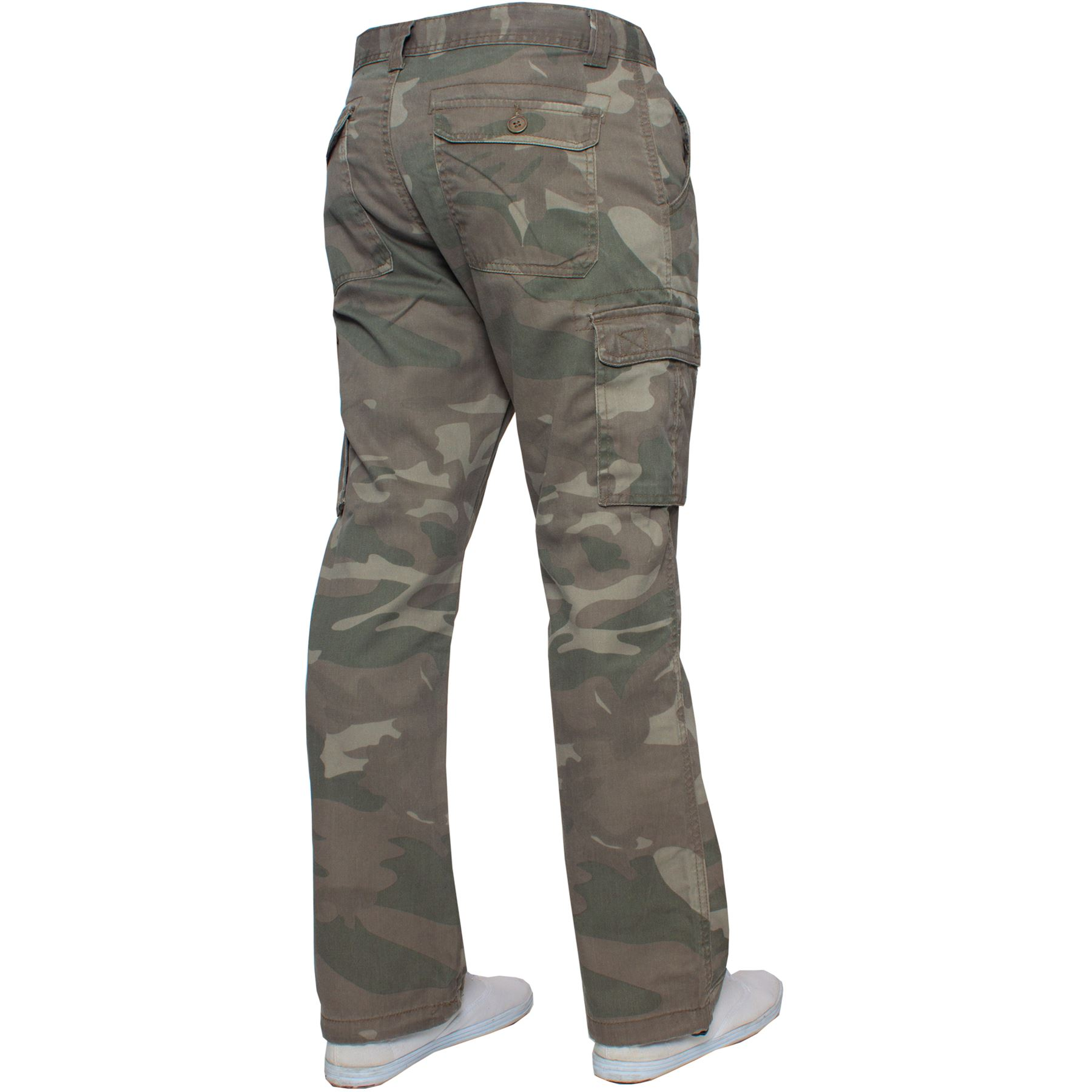 Kruze-Mens-Military-Combat-Trousers-Camouflage-Cargo-Camo-Army-Casual-Work-Pants miniatura 26