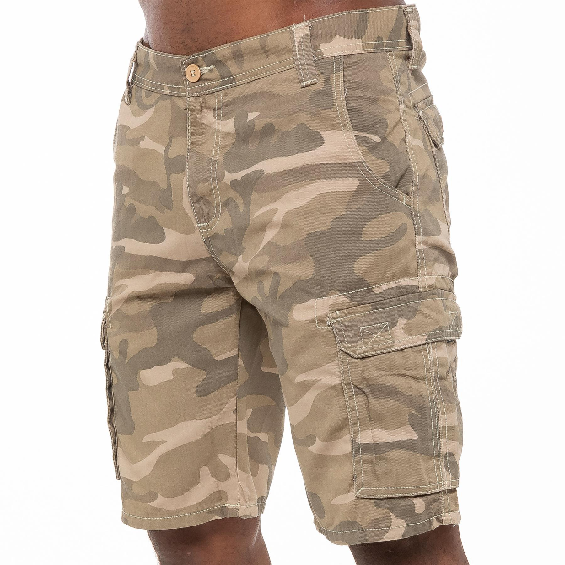 thumbnail 5 - Kruze Jeans Mens Army Combat Shorts Camouflage Cargo Casual Camo Work Half Pants