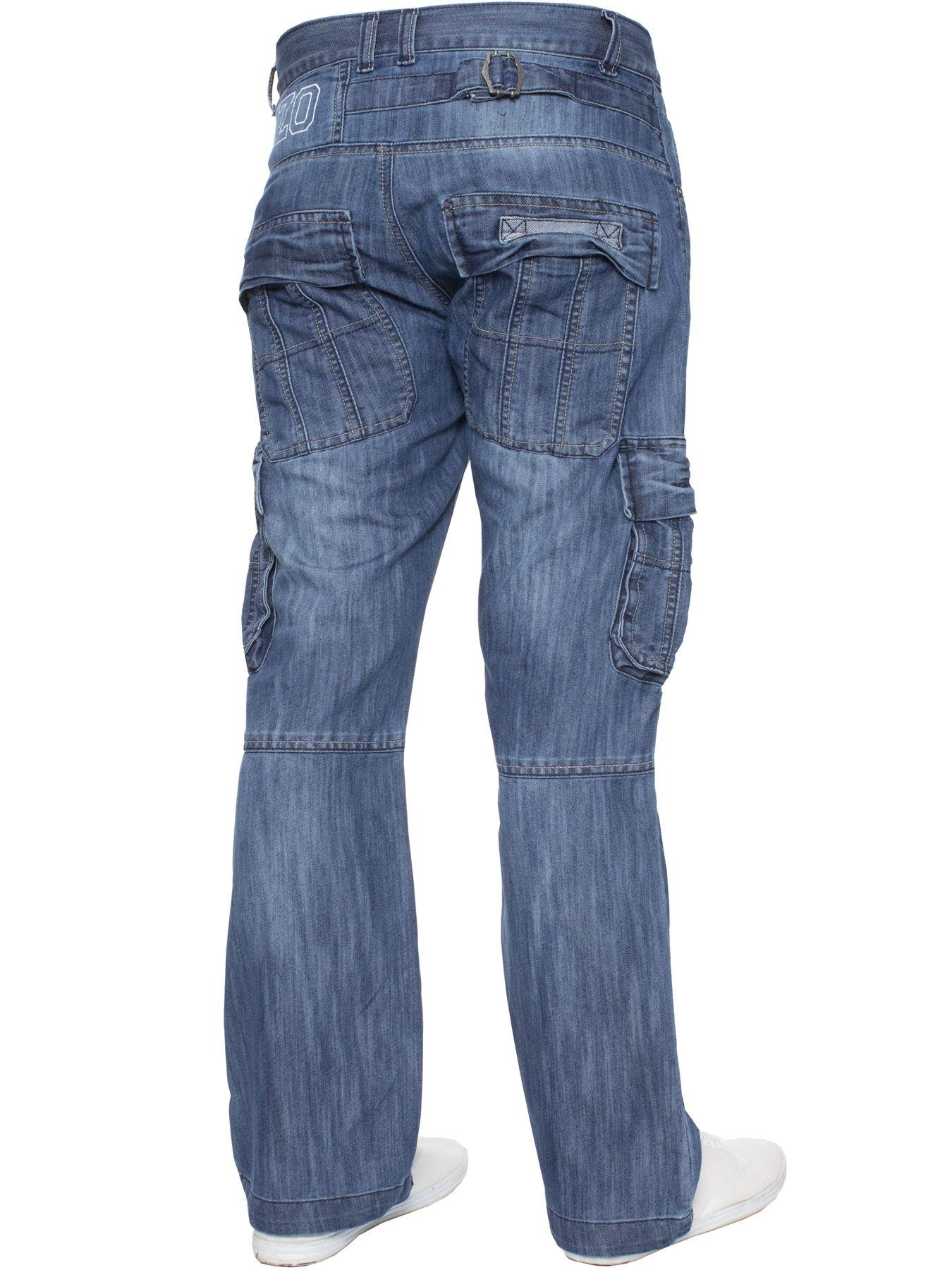 Jeans-Para-Hombre-de-carga-de-combate-pesado-Pantalones-de-trabajo-pantalones-de-mezclilla-Big-King miniatura 12
