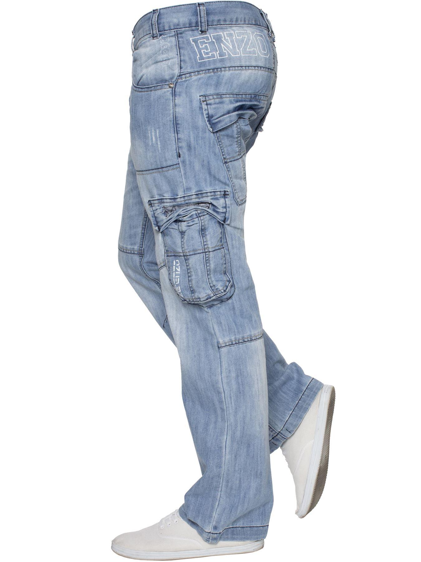 Jeans-Para-Hombre-de-carga-de-combate-pesado-Pantalones-de-trabajo-pantalones-de-mezclilla-Big-King miniatura 48