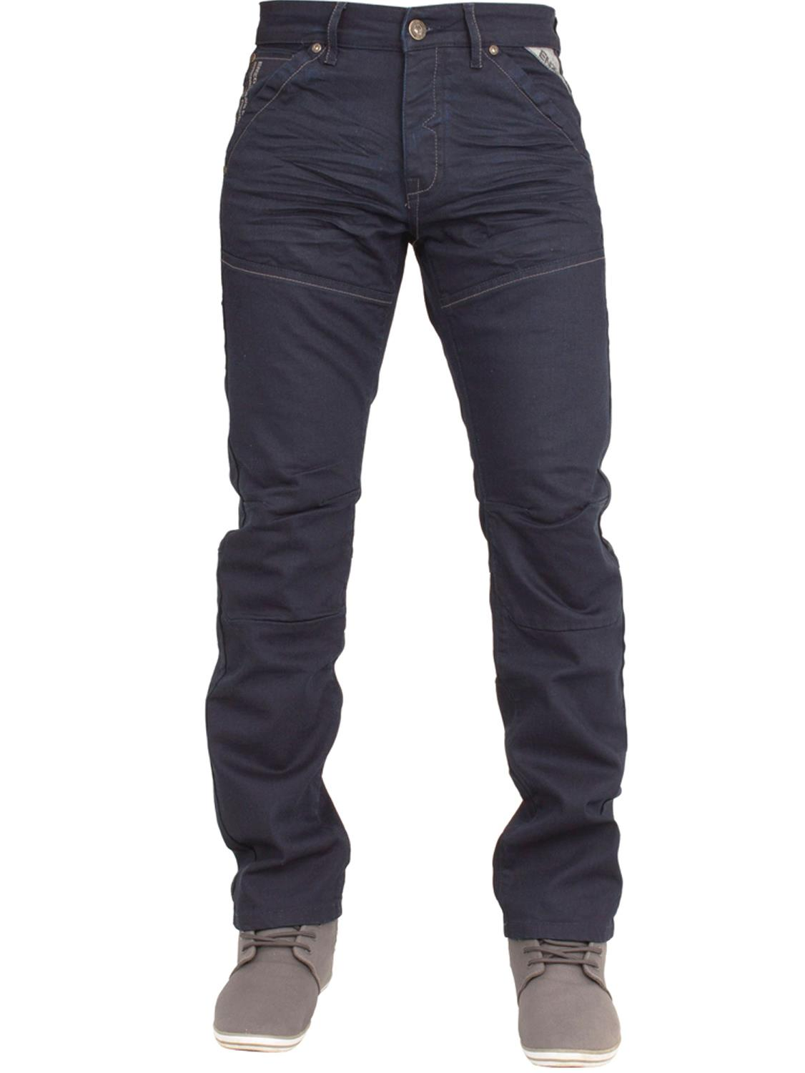 Enzo-Mens-Jeans-Big-Tall-Leg-King-Size-Denim-Pants-Chino-Trousers-Waist-44-034-60-034 miniature 23