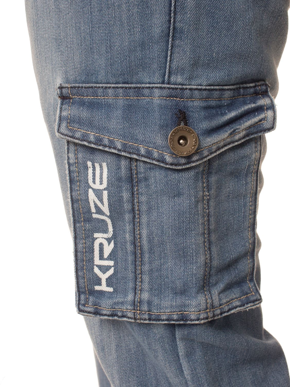 KRUZE-Mens-Combat-Jeans-Casual-Cargo-Work-Pants-Denim-Trousers-All-Waist-Sizes thumbnail 8