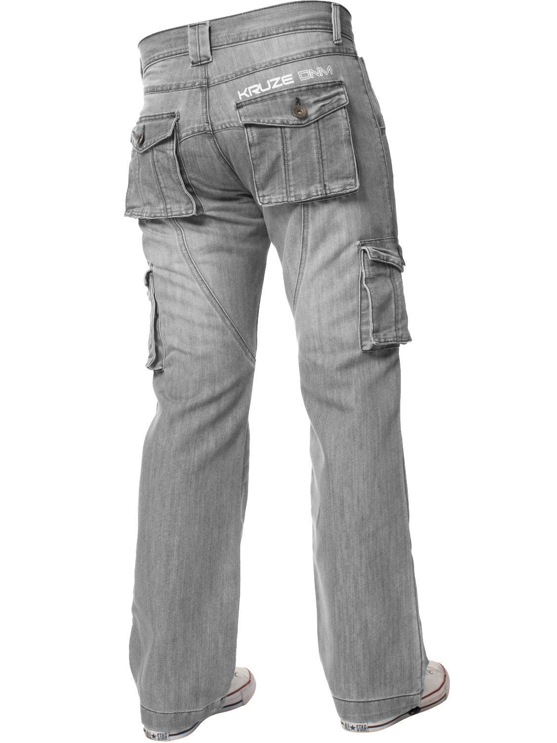 Kruze-Mens-Cargo-Combat-Jeans-Casual-Work-Denim-Pants-Big-Tall-All-Waist-Sizes thumbnail 29