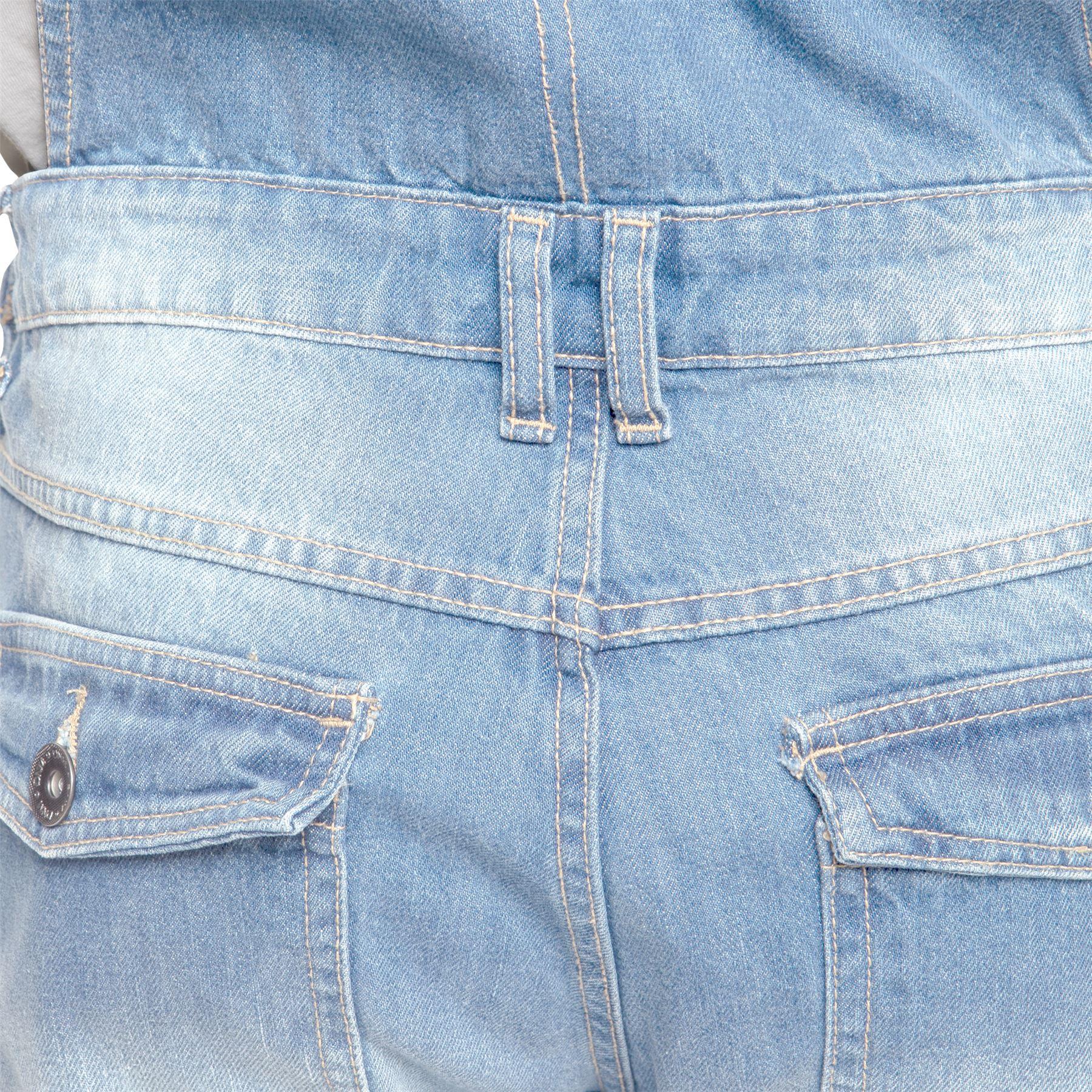 ENZO-Jeans-Hombre-Denim-Azul-Peto-Peto-overoles-Todas-Cinturas-Talla-30-034-50-034 miniatura 14