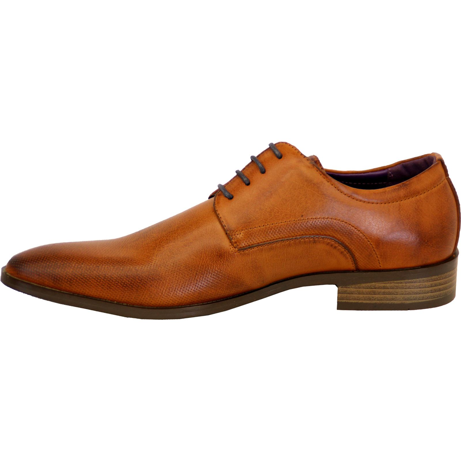Mens-Faux-Leather-Shoes-Smart-Formal-Wedding-Office-Lace-Up-Designer-Brogues thumbnail 14