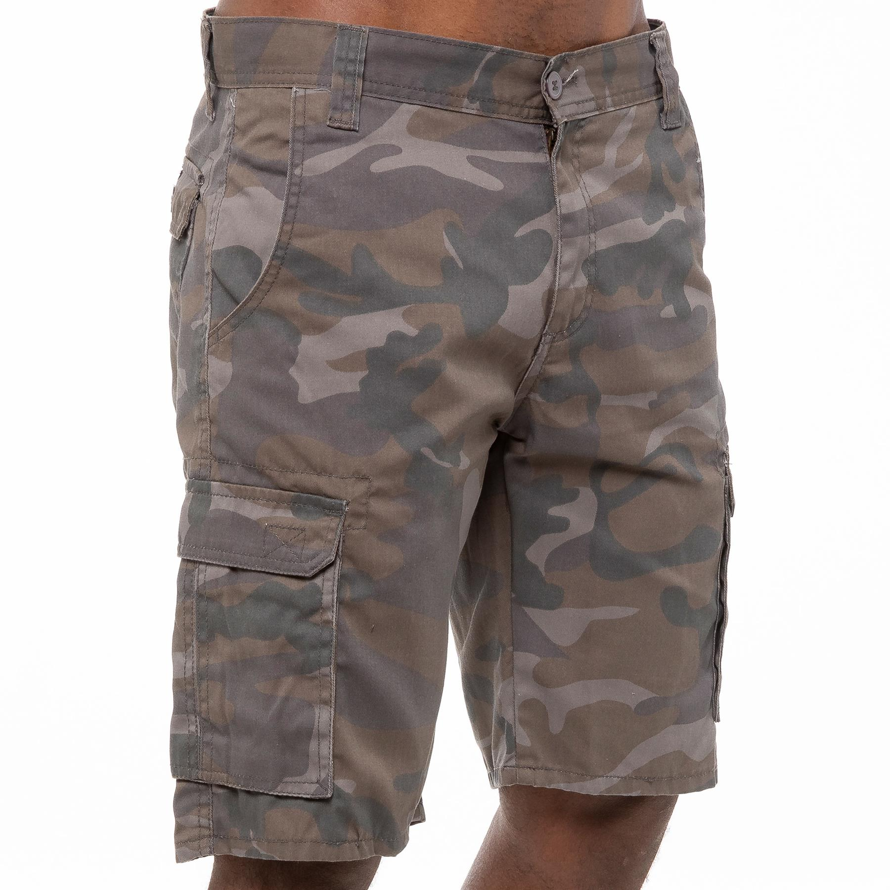 thumbnail 11 - Kruze Jeans Mens Army Combat Shorts Camouflage Cargo Casual Camo Work Half Pants