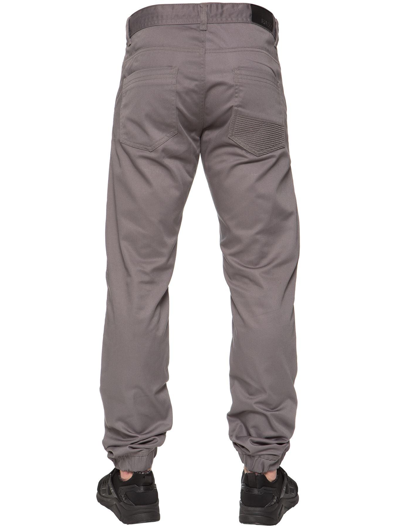 Enzo-Designer-Mens-Cuffed-Chinos-Biker-Jeans-Slim-Denim-Trousers-Pants-Joggers thumbnail 12