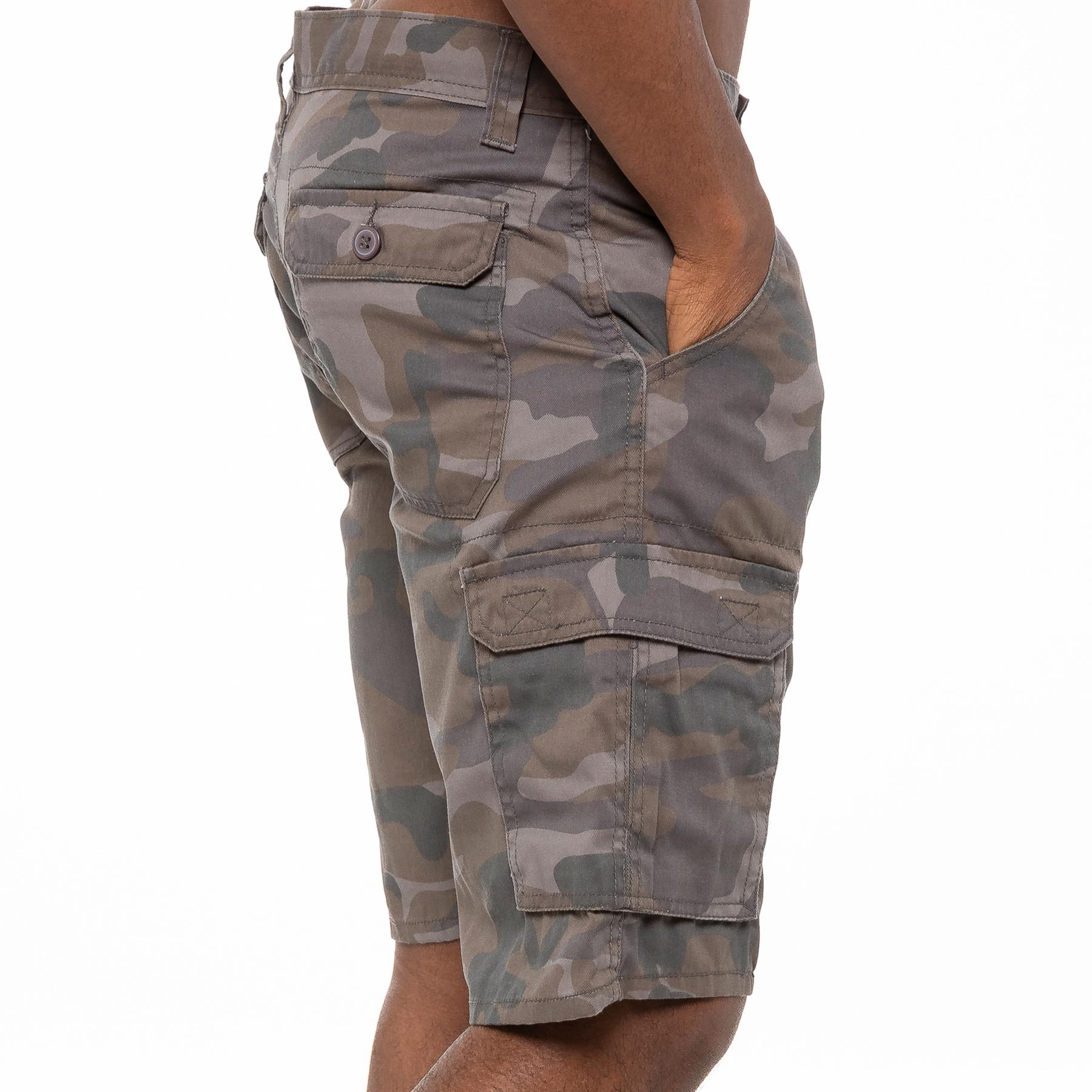 thumbnail 12 - Kruze Jeans Mens Army Combat Shorts Camouflage Cargo Casual Camo Work Half Pants