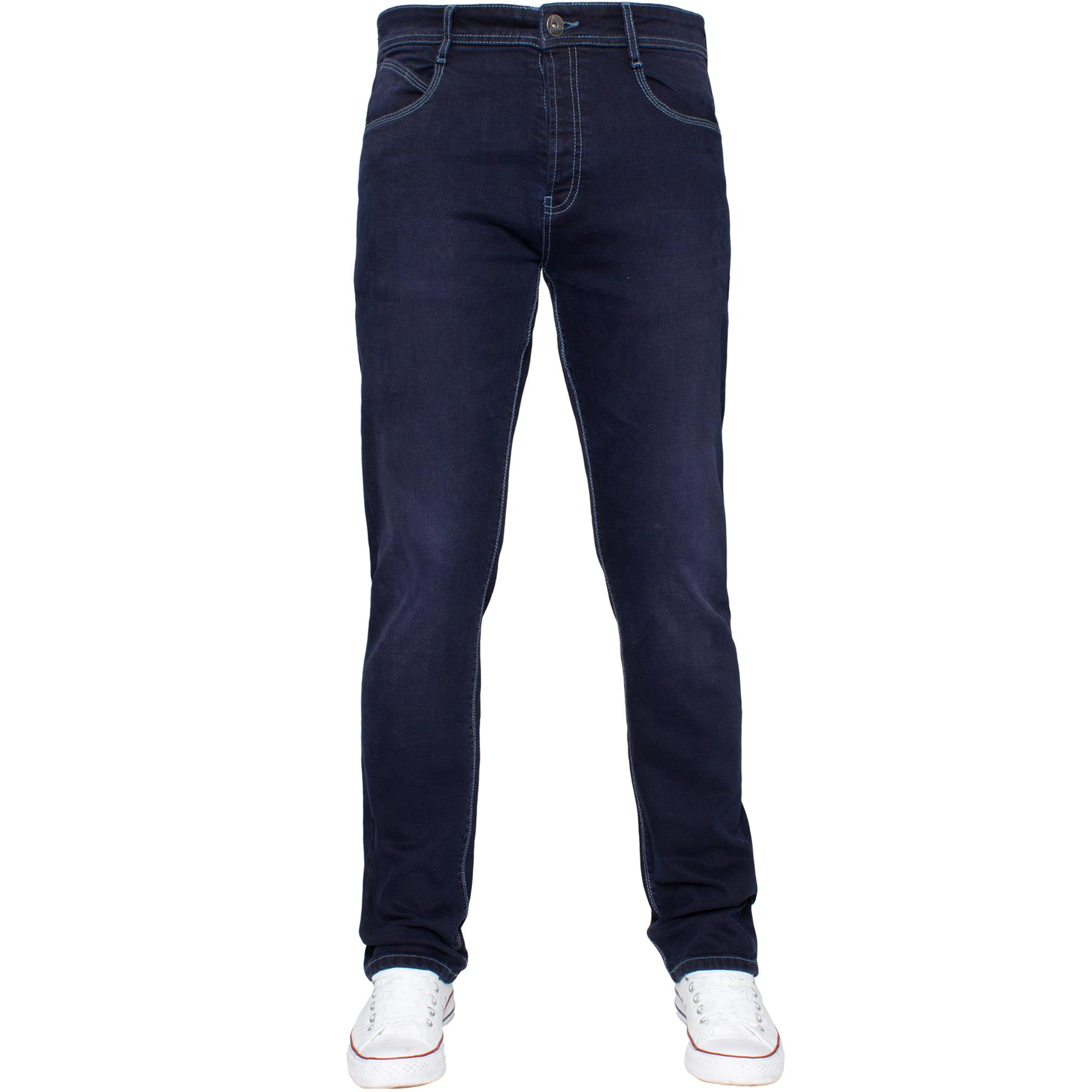 Eto-Designer-Mens-Tapered-Jeans-Slim-Fit-Stretch-Denim-Trouser-Pants-All-Waists thumbnail 23