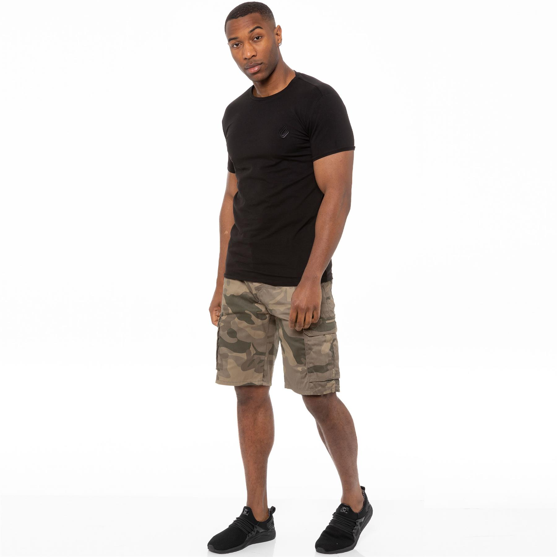 thumbnail 28 - Kruze Jeans Mens Army Combat Shorts Camouflage Cargo Casual Camo Work Half Pants