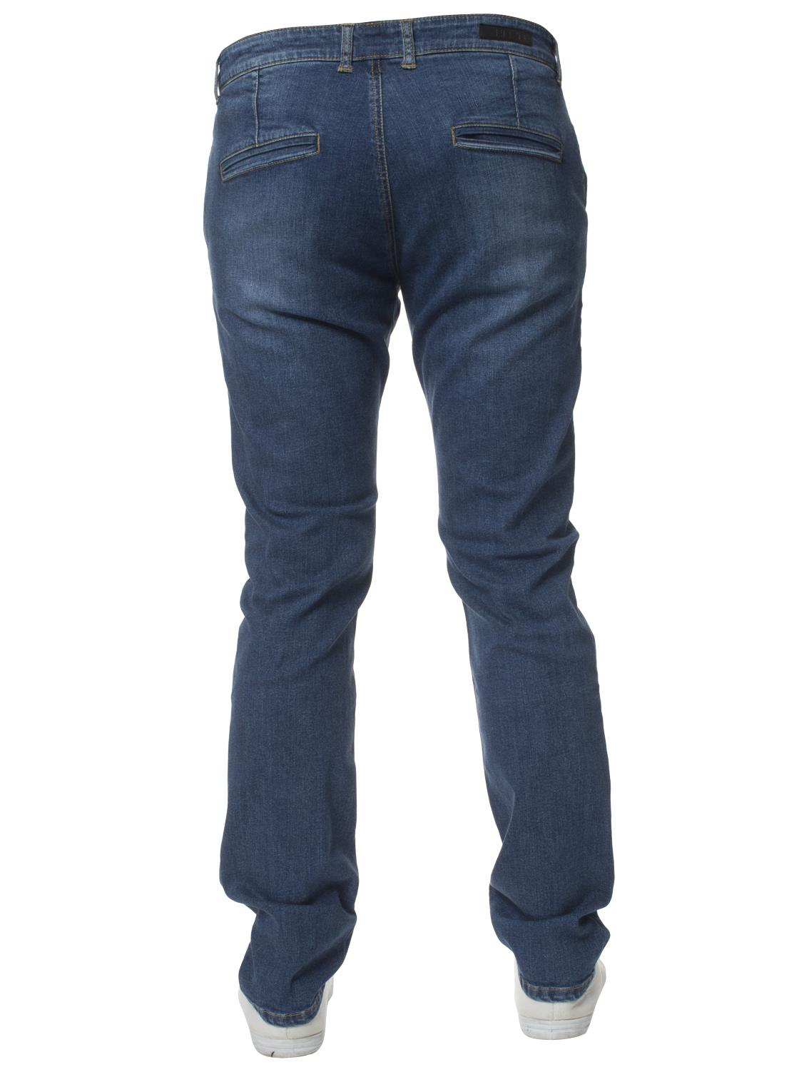 Enzo-Mens-Jeans-Big-Tall-Leg-King-Size-Denim-Pants-Chino-Trousers-Waist-44-034-60-034 miniature 31