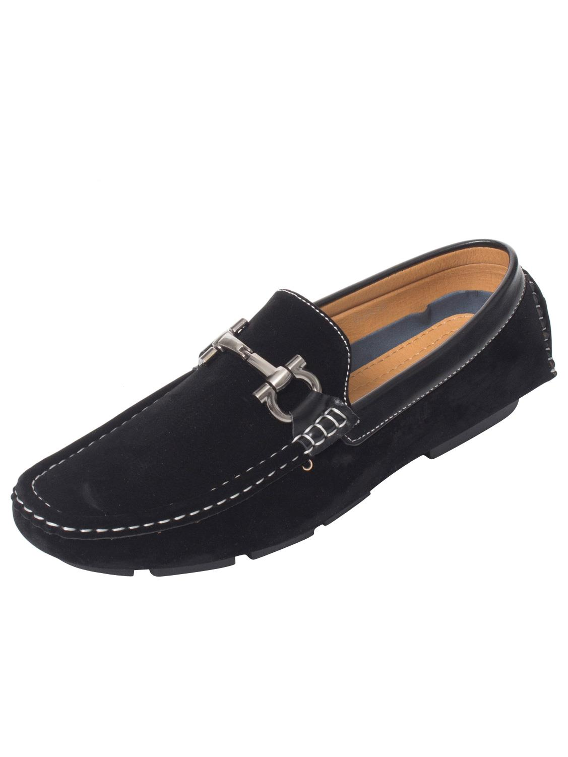 Mens-Slip-Ons-Shoes-Boat-Deck-Driving-Smart-Buckle-Moccasins-Suede-Look-Loafers thumbnail 70