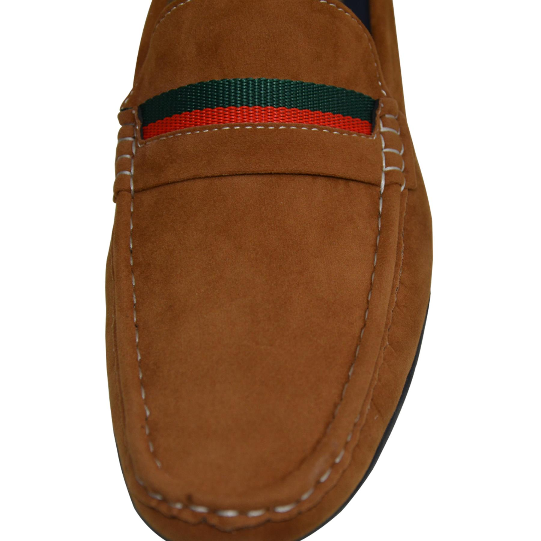 Mens-Slip-Ons-Shoes-Boat-Deck-Driving-Smart-Buckle-Moccasins-Suede-Look-Loafers thumbnail 32