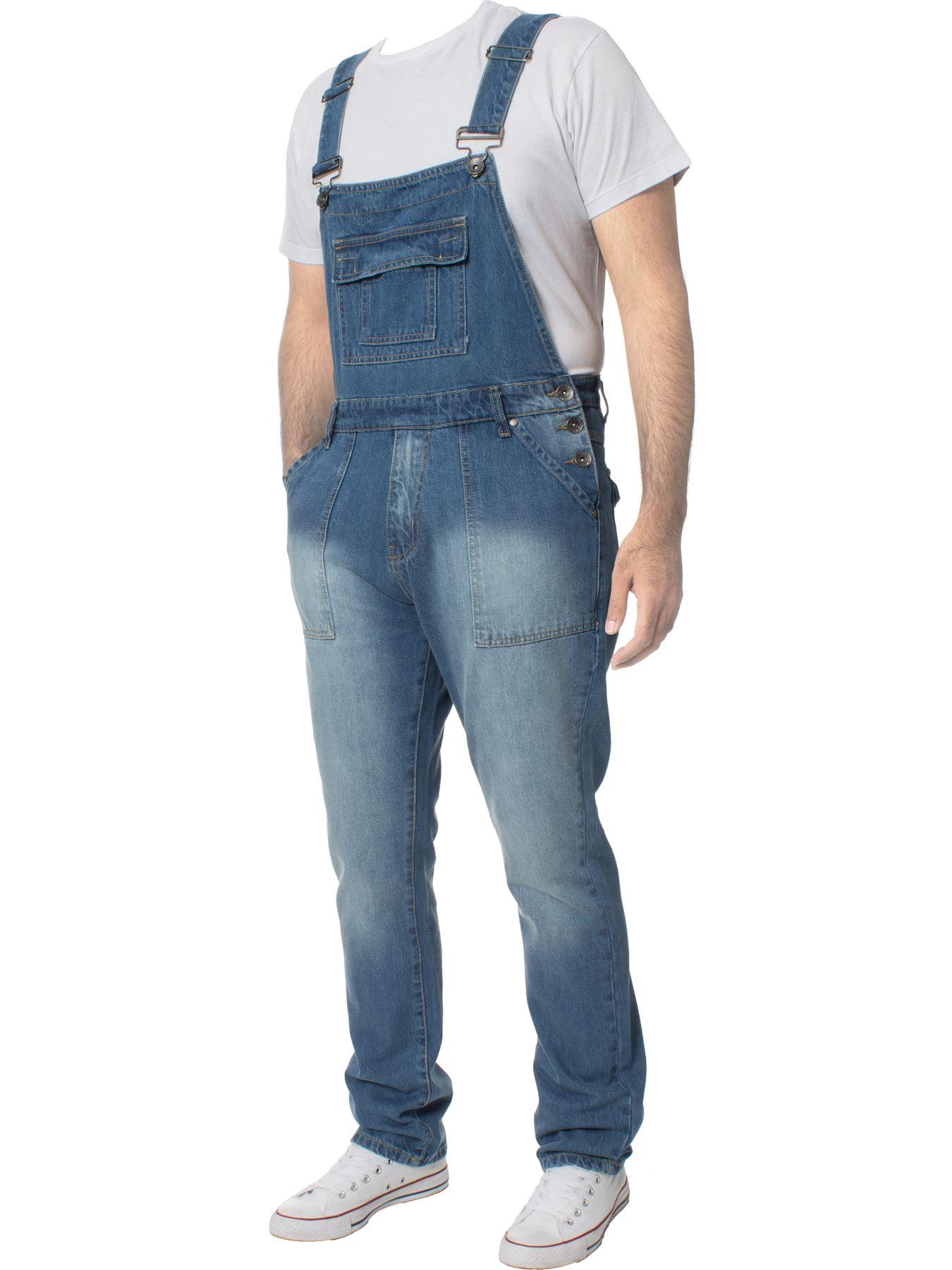 ENZO-Jeans-Hombre-Denim-Azul-Peto-Peto-overoles-Todas-Cinturas-Talla-30-034-50-034 miniatura 6
