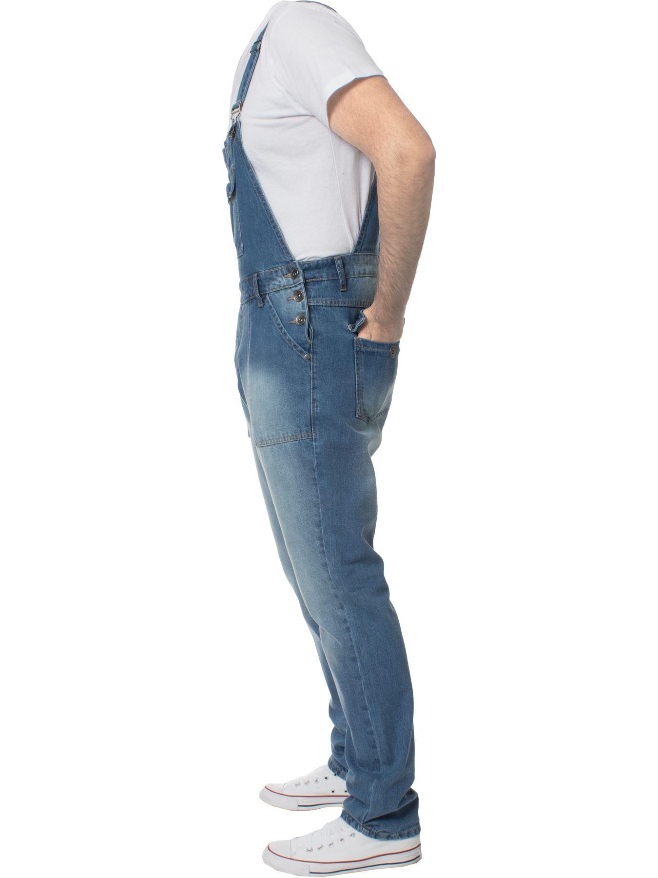 ENZO-Jeans-Hombre-Denim-Azul-Peto-Peto-overoles-Todas-Cinturas-Talla-30-034-50-034 miniatura 8