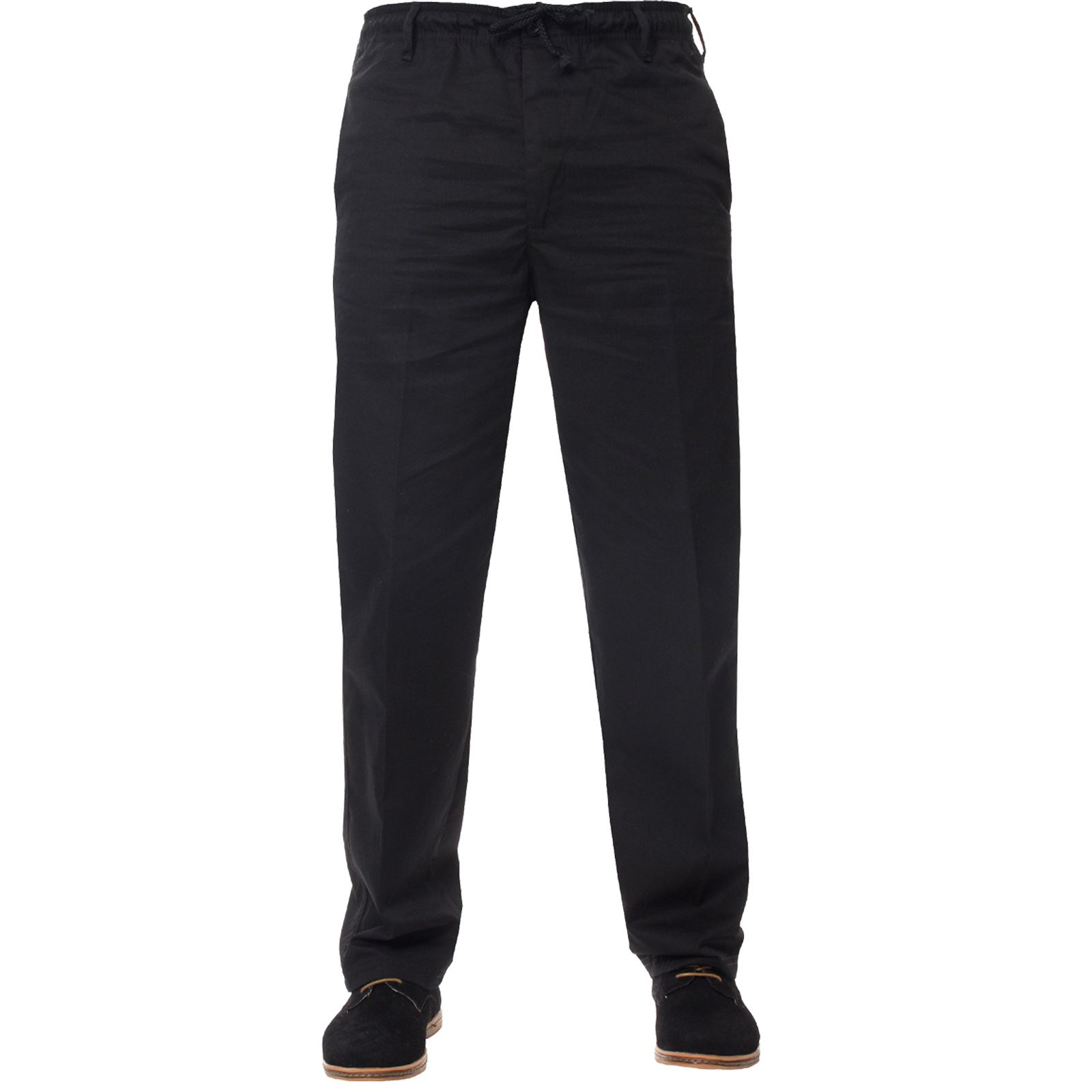 Mens-Rugby-Trousers-Kruze-Elasticated-Waist-Drawstring-Pants-Regular-King-Sizes thumbnail 3