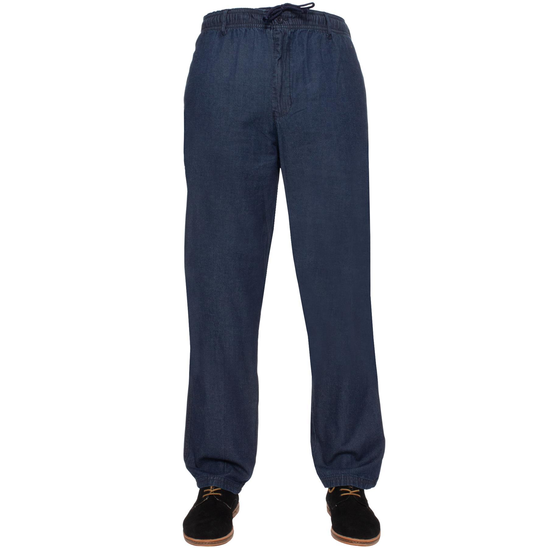 Para-Hombres-Pantalones-De-Rugby-Kruze-cintura-elastica-con-cordon-pantalones-REGULAR-King-Tamanos miniatura 18