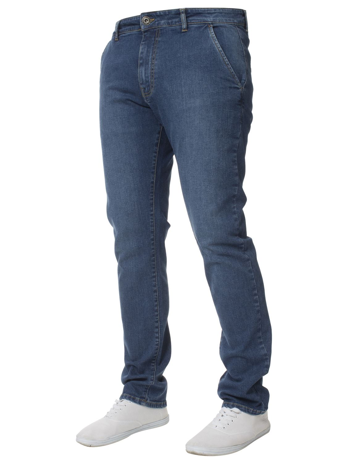 New-Mens-Enzo-Jeans-Denim-Chinos-Skinny-Slim-Fit-Super-Stretch-Trousers-Pants thumbnail 3